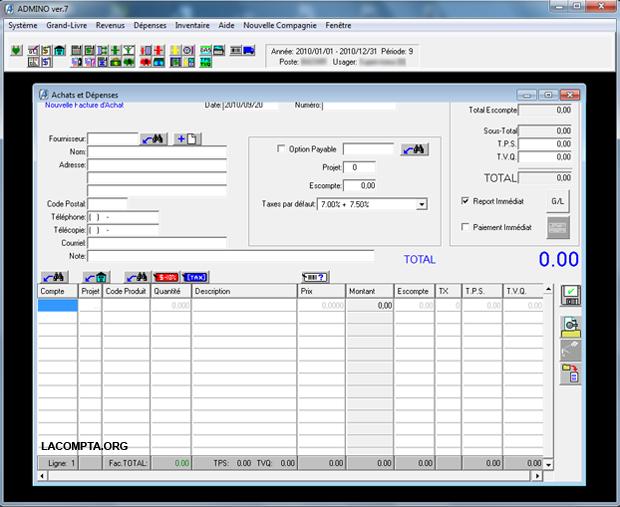 Admino un logiciel comptable puissant et gratuit - Table de mixage logiciel gratuit francais ...