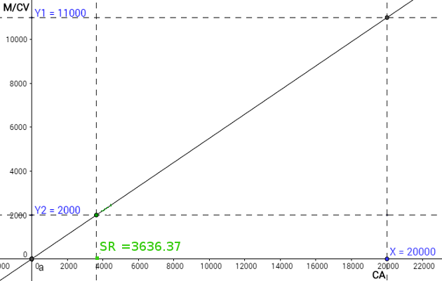 Calcul Du Seuil De Rentabilite Methode Graphique